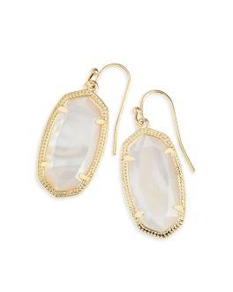 Kendra Scott Dani Gold Earrings In Ivory Mother Of Pearl