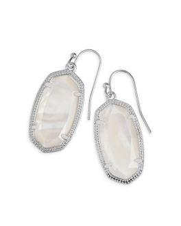 Kendra Scott Dani Silver Drop Earrings In Ivory Mother Of Pearl