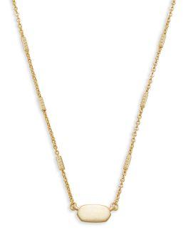 Kendra Scott Fern Pendant Necklace In Gold