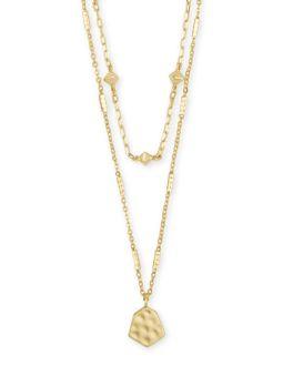 Kendra Scott Clove Multi Strand Necklace In Gold
