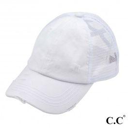 CC Pony Hat  - White