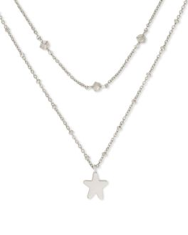 Kendra Scott Jae Star Multi Strand Necklace In Silver