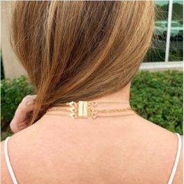 Necklace Layering Clasp - Gold