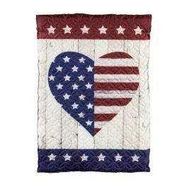 Stars & Stripes Heart Garden Quilted Flag
