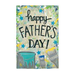 Happy Father's Day Dropcloth Garden Flag