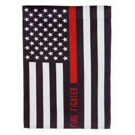 Firefighter Thin Red Line Garden Flag