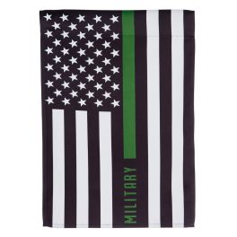 Military Thin Green Line Garden Flag