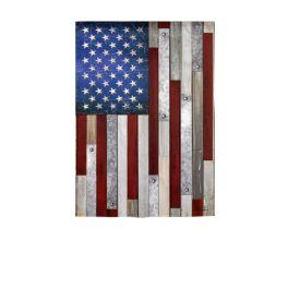 Wood Stripe American Flag Garden Suede Flag