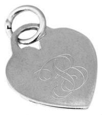 Sterling Silver Engravable Heart Charm