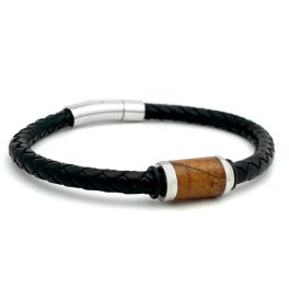 Men's Genuine Leather Cigar Leaf Bracelet