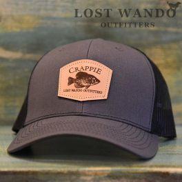 Crappie Hat - Charcoal & Black