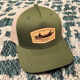 Jon Boat Hat - Army Olive & Tan