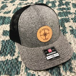 Any Direction Hat - Heather Grey & Black