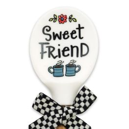 Sweet Friend Silicone Wood Spoon