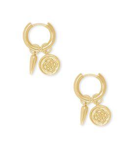 Kendra Scott Dira Coin Huggie Earrings In Gold