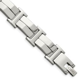 Men's Stainless Steel Polished Link Bracelet - 8.5""