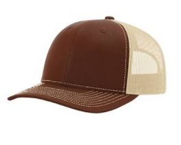 Richardson Trucker Snapback Hat - Brown & Khaki