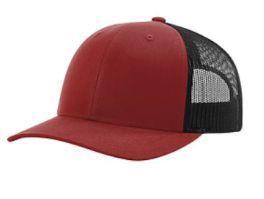 Richardson Trucker Snapback Hat - Cardinal & Black