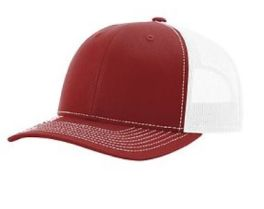 Richardson Trucker Snapback Hat - Cardinal & White
