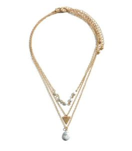 Must Be Fate Necklace - Gold/White