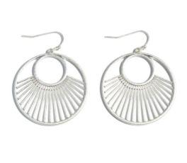 Biggest Fan Earrings - Silver