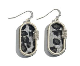 Next To You Earrings - Grey Leopard