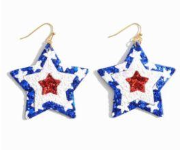 American Pride Earrings - Blue
