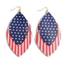 Patriotic Spirit Earrings - Red/White/Blue