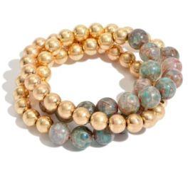 Hot And Baubled Bracelet - Gold