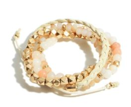 Just Peachy Bracelet - Peach/Natural
