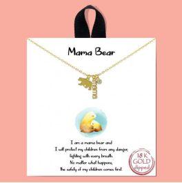 Mama Bear Necklace - Gold