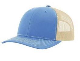 Richardson Trucker Snapback Hat - Columbia Blue & Khaki