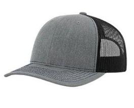 Richardson Trucker Snapback Hat - Heather Gray & Black