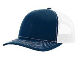 Richardson Trucker Snapback Hat - Navy & White