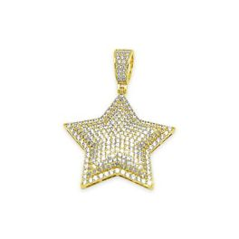 Sterling Silver Star CZ Pendant - Gold Plated