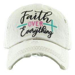 Faith Over Everything Hat - Stone
