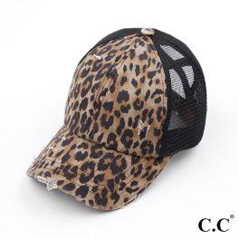 CC Pony Hat - Baby Leopard