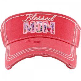 Blessed Mom Visor - Hot Pink