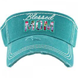 Blessed Mom Visor - Turquoise