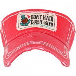 Boat Hair Don't Care Visor - Hot Pink