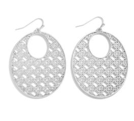 Rounding Out Earrings - Silver