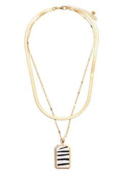 Layer Me Necklace - Zebra