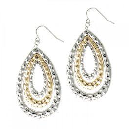 Looking Ahead Earrings - Silver/Gold