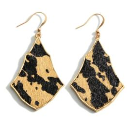 Start To Believe Earrings - Brown Leopard