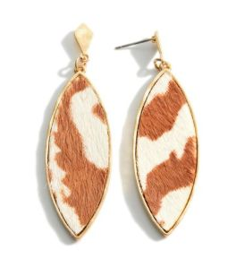 Something To Talk About Earrings - Brown Leopard