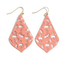 Flamingoing Around Earrings - Pink