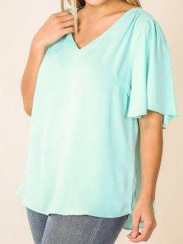 Wave Of You Top In Plus - Blue Mint