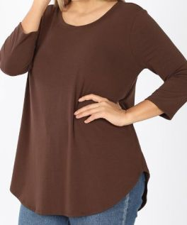 Better Than Basic Tunic In Plus - Brown