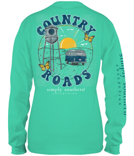 Simply Southern Country Roads Long Sleeve T-Shirt