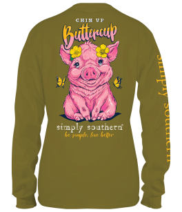 Simply Southern Pig Long Sleeve T-Shirt - YOUTH